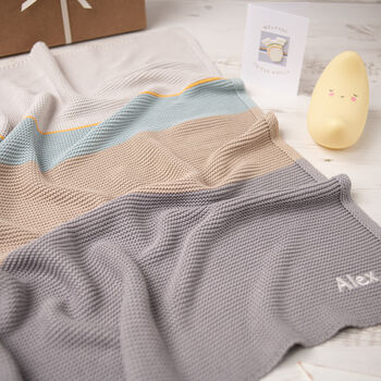 Personalised Arty Colour Block Baby Blanket