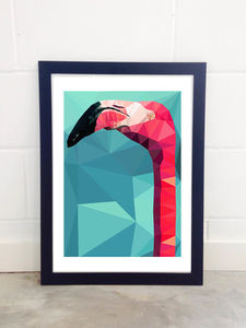 Flamingo Head By Studio Cockatoo - posters & prints