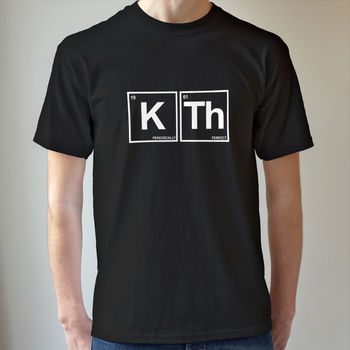 Personalised Humorous Periodic Table T Shirt
