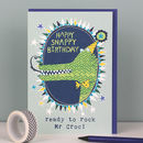 Childrens Birthday Card Crocodile Theme