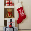 Personalised Red Corduroy Stocking