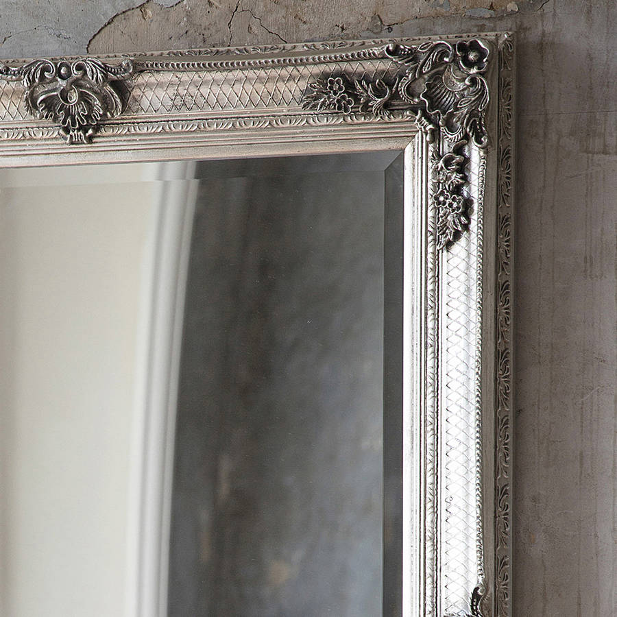 decorative antique silver wall mirror by primrose & plum | notonthehighstreet.com