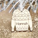 Personalised Christmas Jumper Tree Decoration