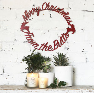 Personalised Metal Christmas Wreath - personalised