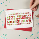 Wonderful Mother In Law Christmas Card