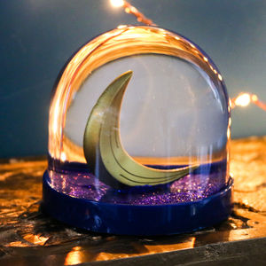 Snow Globe, Crescent Moon