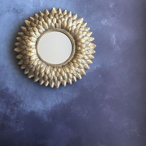 Gold Feather Small Mirror - mirrors
