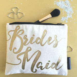 'Bridesmaid' Gift Make Up Bag - one week to go