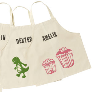 Printed Children's Personalised Aprons - aspiring chef