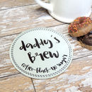 Personalised Name And Drink 'Brew' Glass Coaster