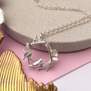 Robin And Nest Silver Bird Necklace