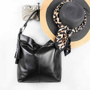 Easton Leather Hobo Bag With Tassel