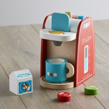 Personalised Wooden Coffee Maker