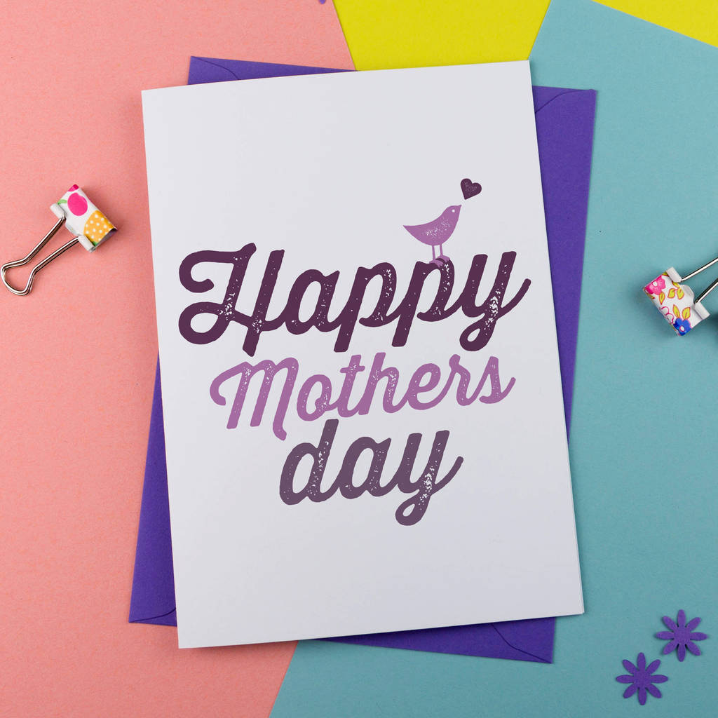 Happy mothers day card by a is for alphabet notonthehighstreet happy mothers day card kristyandbryce Image collections