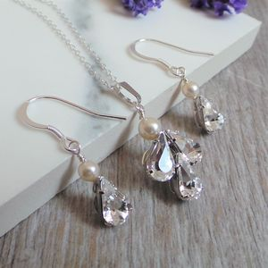 Angel Necklace And Earrings Bridal Jewellery Set