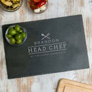 Chef Of The Family Personalised Serving Board