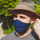 Adults Male Navy Reusable Face Mask | Washable