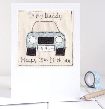 Personalised Car Birthday Card For Dad