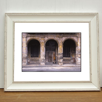 Old Man, Old Building Photographic Art Print