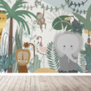Safari Jungle Children's Wallpaper Mural