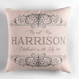 Personalised Wedding Day Cushion