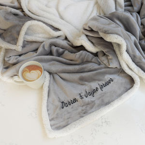 Personalised Grey And White Super Soft Blanket - blankets, comforters & throws