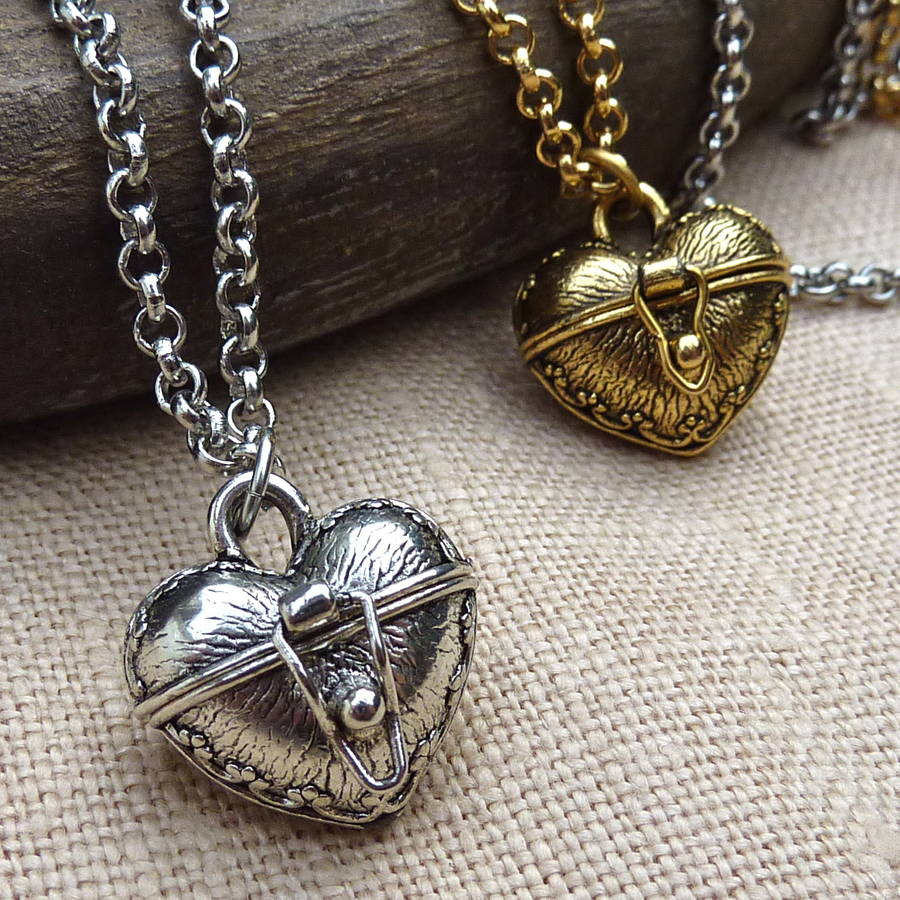 heart amulet locket pendant by jamie london