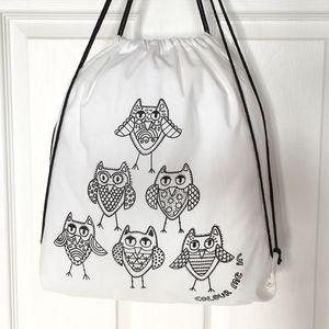 Owl Bag To Colour In - bags, purses & wallets