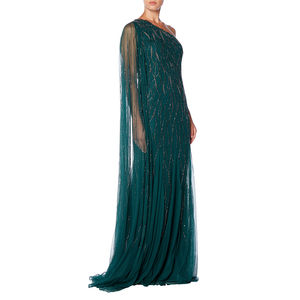 Emerald One Shoulder Gown