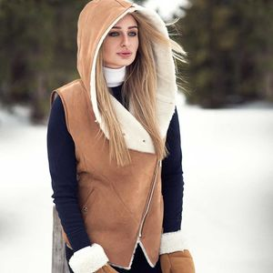 Chestnut Sheepskin Gilet - coats & jackets