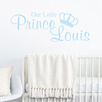 Our Little Prince Or Princess Personalised Wall Sticker