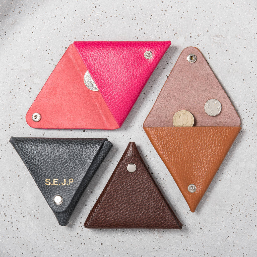 Personalised Origami Leather Coin Purse By Posh Totty Designs