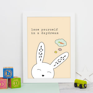 Dreaming Bunny Print - animals & wildlife