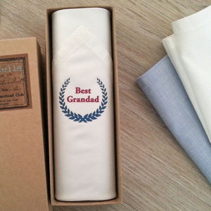 Handkerchief For Grandfather - handkerchiefs