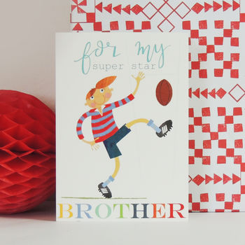 Rugby Brother Greetings Card