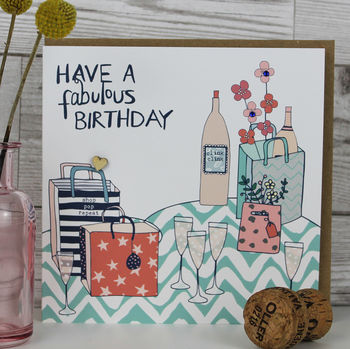 Shopping Theme Birthday Card