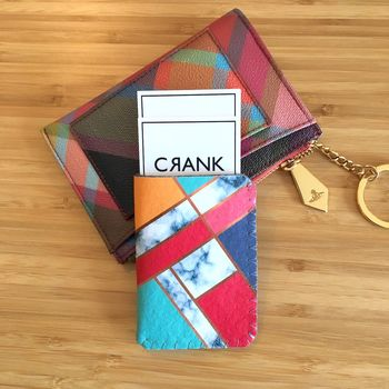 Art Deco Card Holder For Travel And Business Cards