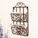 Parisian Romance Wall Mounted Magazine Rack