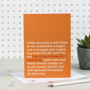 'Lots Of Tiny Chunks Of Happiness' Card - sympathy & sorry cards