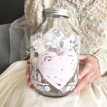 Large Wedding Money Box Jar