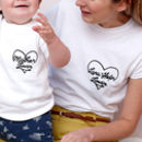 Personalised Heart Mum And Child Matching T Shirt Set