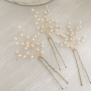 Ivory Bridal Pins Set Of Three