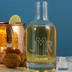 Personalised Monogrammed Glass Decanter - housewarming gifts