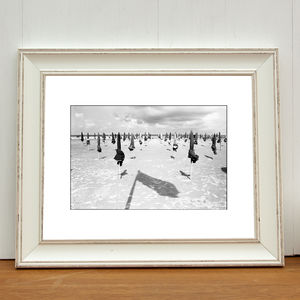 Parasols, Deauville Beach, France Art Print