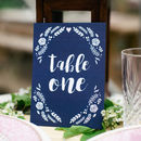 Dark Blue Wedding Table Numbers