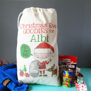 Personalised Christmas Eve Sack - stockings & sacks