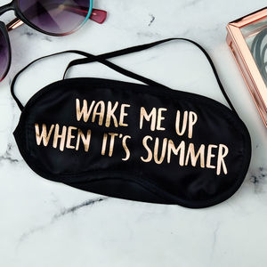 Wake Me Up When It's Summer Gold Foil Eye Mask