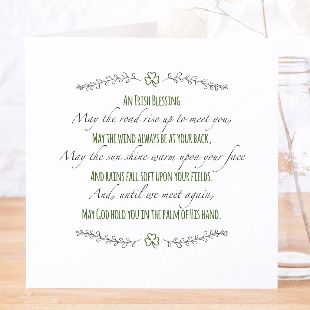 May The Road Rise Up Contemporary Irish Blessing Card