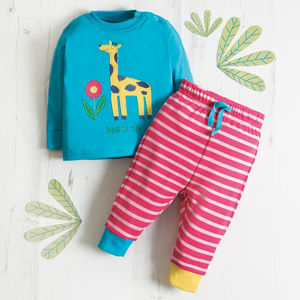 Personalised Organic Little Long John Giraffe Pyjamas - our top new picks