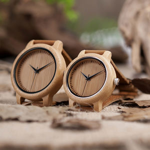 Bobo Bird Handcrafted Bamboo Men's Watch - men's accessories